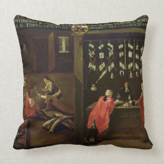 Sign of the Venetian Comb Makers' Guild (panel) Throw Pillow