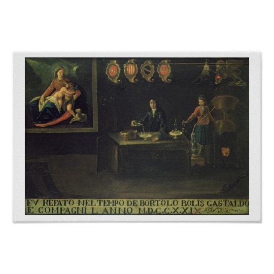 Sign of the Venetian Pharmacists' Guild, 1729 (pan