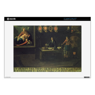 "Sign of the Venetian Pharmacists' Guild, 1729 (pan 15"" Laptop Skin"