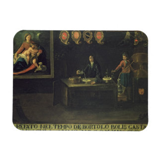 Sign of the Venetian Pharmacists Guild 1729 pan Rectangle Magnets