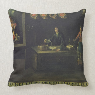 Sign of the Venetian Pharmacists' Guild, 1729 (pan Throw Pillow