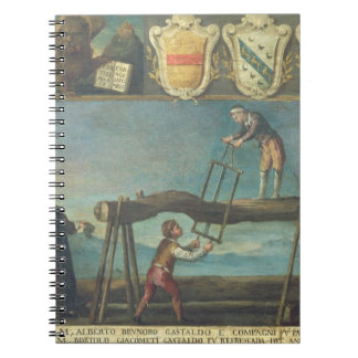 Sign of the Venetian Saw Mill Workers' Guild, 1445 Spiral Notebook
