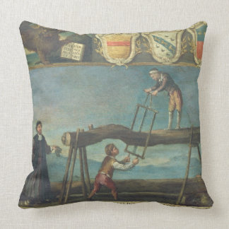 Sign of the Venetian Saw Mill Workers' Guild, 1445 Throw Pillow