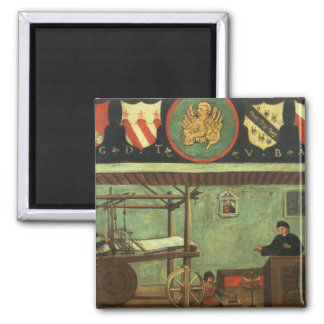 Sign of the Venetian Weavers' Guild (panel) 2 Inch Square Magnet