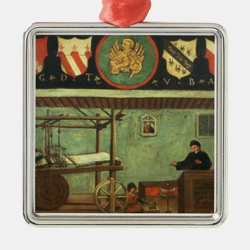 Sign of the Venetian Weavers' Guild (panel) Metal Ornament