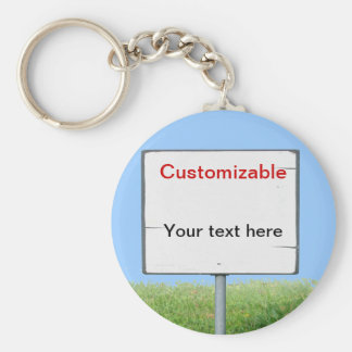 Sign on the Grass Basic Round Button Keychain