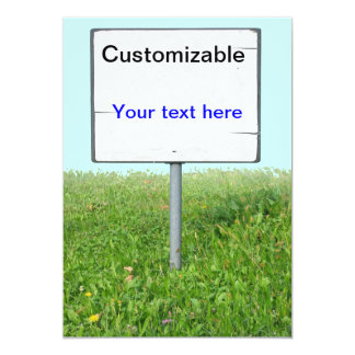 Sign on the Grass Card