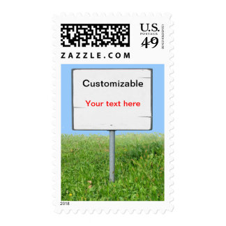 Sign on the Grass Postage Stamp