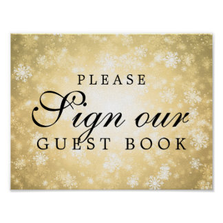 Sign Our Wedding Guestbook Winter Wonderland