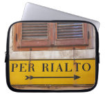 Sign pointing the way to the Rialto Bridge, Laptop Computer Sleeves
