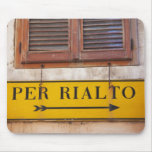 Sign pointing the way to the Rialto Bridge, Mousepads