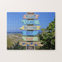 Sign Post Florida. Jigsaw Puzzle