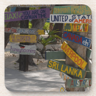 Sign Post Rum Point Grand Cayman Drink Coaster