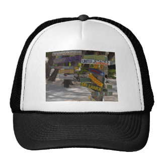 Sign Post Rum Point Grand Cayman Trucker Hat
