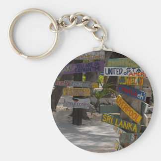 Sign Post Rum Point Grand Cayman Keychain