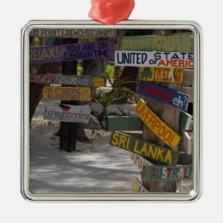Sign Post Rum Point Grand Cayman Metal Ornament