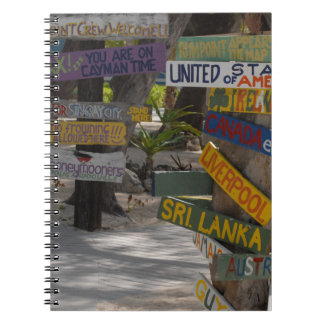 Sign Post Rum Point Grand Cayman Spiral Notebook