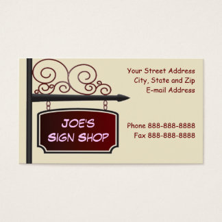 Sign Shop Real Estate Agent Store Front Business C Business Card