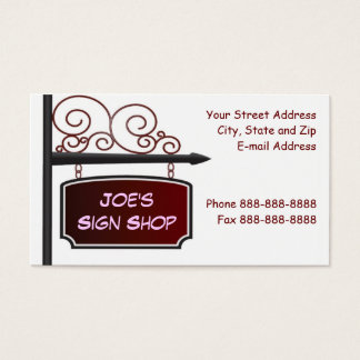 Sign Shop Realtor Store Front Business Card