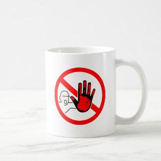 sign stop trespassing hand blood coffee mug