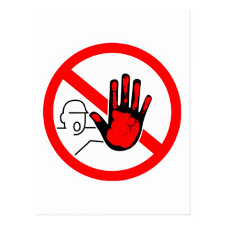 sign stop trespassing hand blood postal