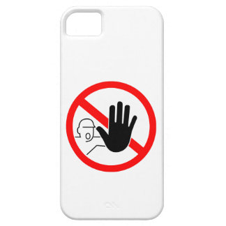 sign stop trespassing hand iPhone SE/5/5s case