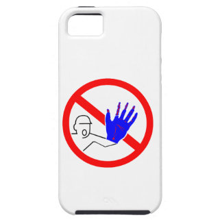 sign stop trespassing injured hand iPhone SE/5/5s case