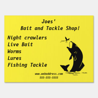 Sign Store Bait and Tackle