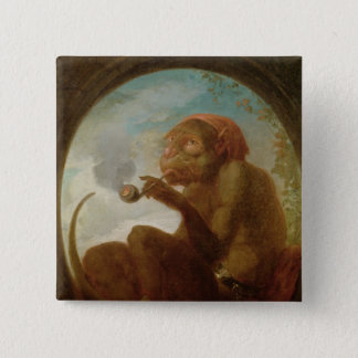 Sign with a monkey smoking a pipe button