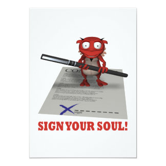 Sign Your Soul To The Devil Card