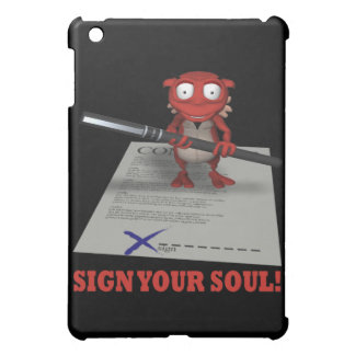 Sign Your Soul To The Devil Cover For The iPad Mini