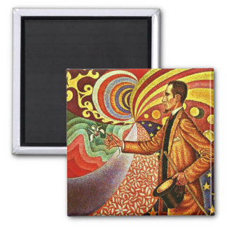Signac: Portrait of Felix Feneon 2 Inch Square Magnet