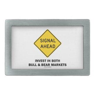 Signal Ahead (Sign) Invest Both Bull Bear Markets Belt Buckle