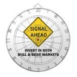 Signal Ahead (Sign) Invest Both Bull Bear Markets Dartboard
