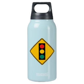 Signal Ahead, Traffic Warning Sign, USA 10 Oz Insulated SIGG Thermos Water Bottle