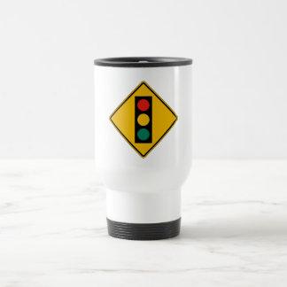 Signal Ahead, Traffic Warning Sign, USA 15 Oz Stainless Steel Travel Mug