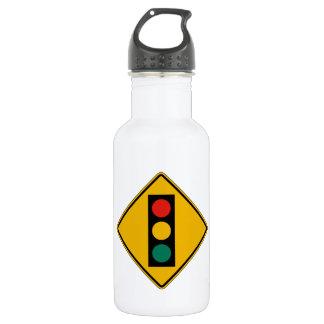 Signal Ahead, Traffic Warning Sign, USA 18oz Water Bottle