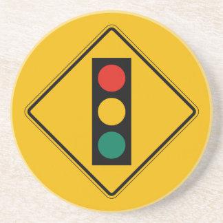 Signal Ahead, Traffic Warning Sign, USA Drink Coaster