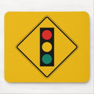 Signal Ahead, Traffic Warning Sign, USA Mouse Pad