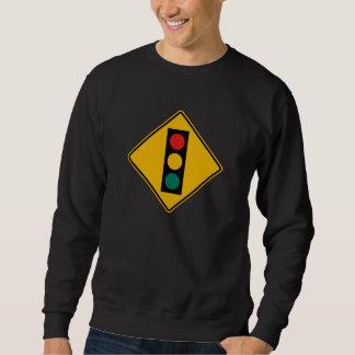 Signal Ahead, Traffic Warning Sign, USA Sweatshirt
