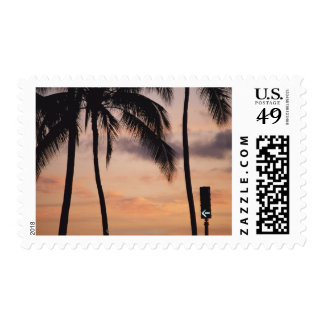 Signal and Palm Tree Postage