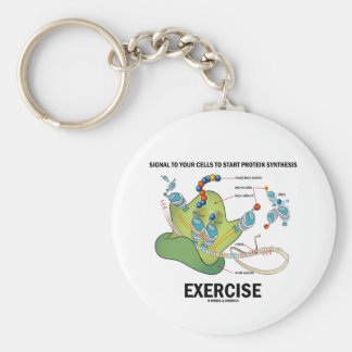 Signal Cells To Start Protein Synthesis Exercise Keychain