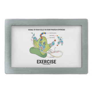 Signal Cells To Start Protein Synthesis Exercise Rectangular Belt Buckle
