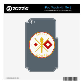 Signal  Corps Branch Plaque Decals For iPod Touch 4G