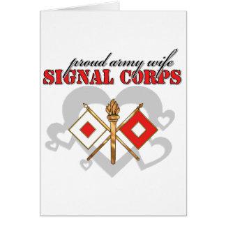Signal Corps Card