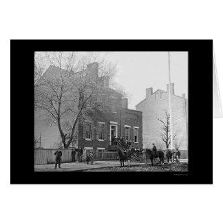 Signal Corps Headquarters in Washington, DC 1865 Card