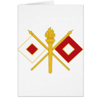 Signal Corps Insignia Card