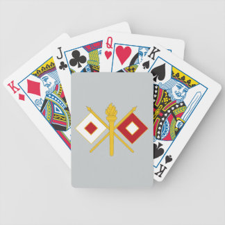 Signal Corps Insignia Bicycle Playing Cards
