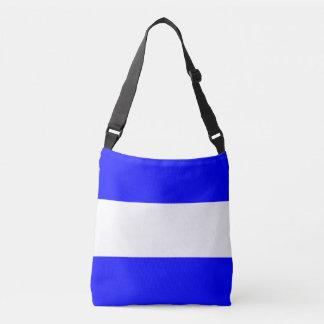 Signal Flag Letter J Juliet Nautical Pattern Crossbody Bag