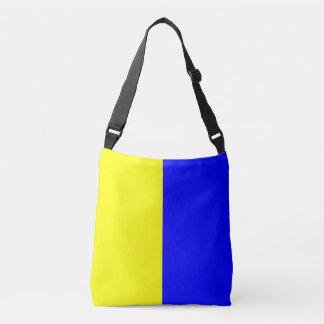 Signal Flag Letter K Kilo Nautical Pattern Crossbody Bag